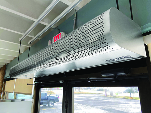POWERED AIRE'S NEW AIR CURTAIN